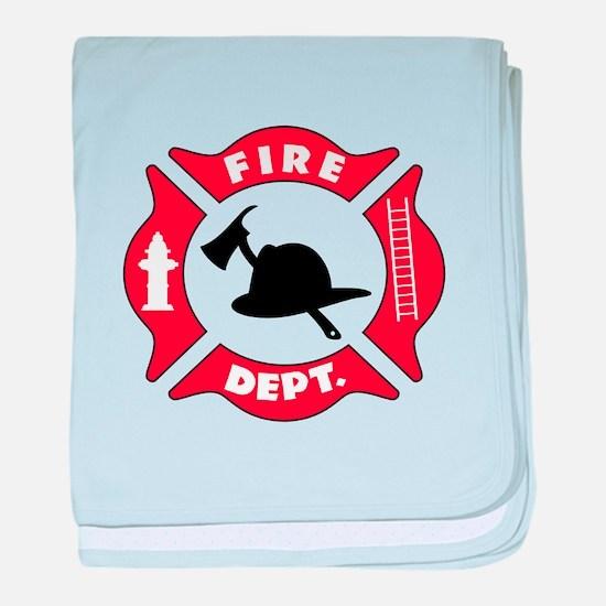 Fire department 2 baby blanket