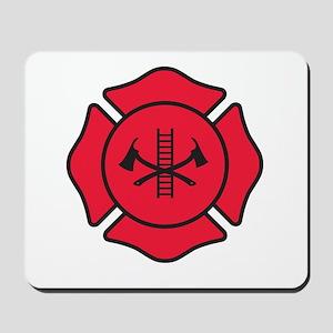 Fire dept symbol 2 Mousepad