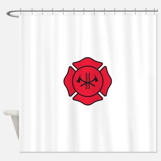Fire dept symbol 2 Shower Curtain