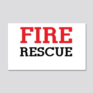 Fire rescue Wall Decal
