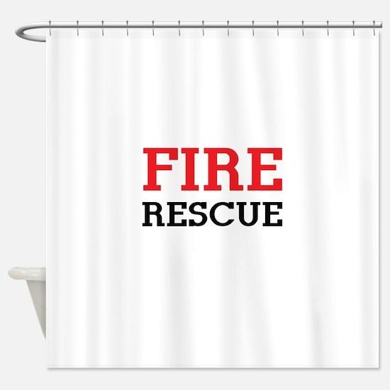 Fire rescue Shower Curtain