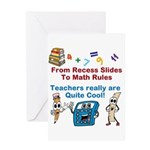 Teachers Are Cool Card Greeting Cards