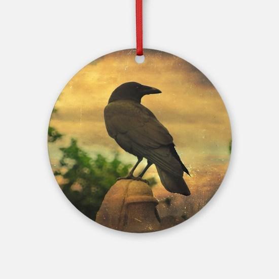 Unique Crow Round Ornament