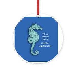 seahorse christmas ornaments cafepress - Seahorse Christmas Ornament
