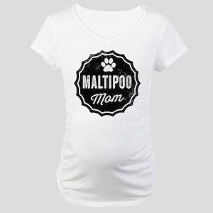 Maltipoo Mom Maternity T-Shirt