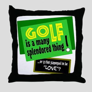 Golf-A Splendored Thing Throw Pillow