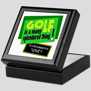 Golf-A Splendored Thing Keepsake Box