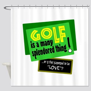 Golf-A Splendored Thing Shower Curtain