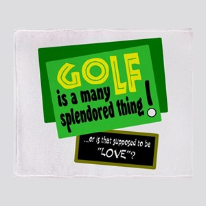 Golf-A Splendored Thing Throw Blanket