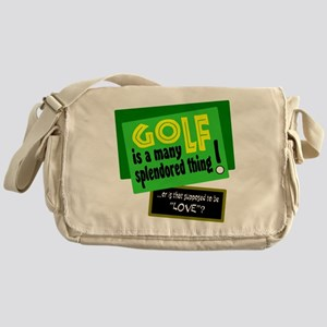 Golf-A Splendored Thing Messenger Bag