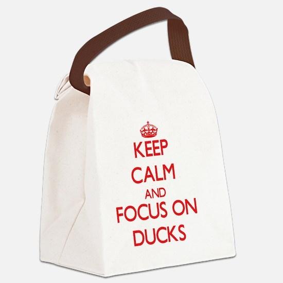 Cute Calm dive Canvas Lunch Bag