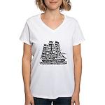 Cutty Sark Women's V-Neck T-Shirt