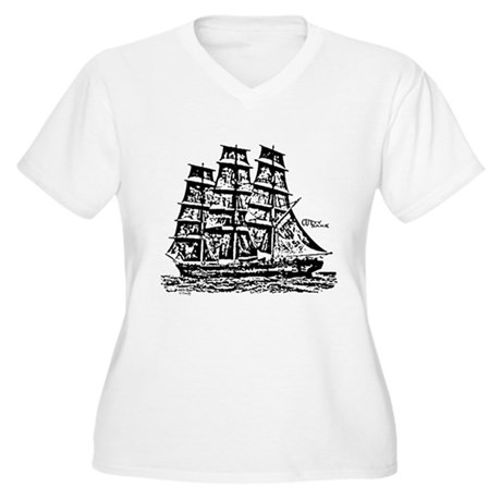 Cutty Sark Women's Plus Size V-Neck T-Shirt