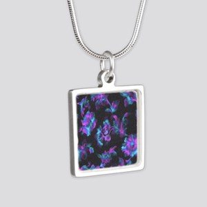 Black, Blue and Purple Abstract Necklaces