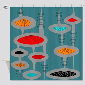 Atomic Era Inspired Shower Curtain