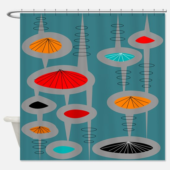 Atomic Era Inspired Shower Curtain