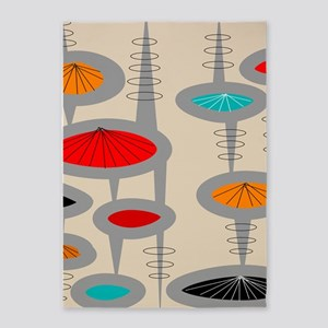 Atomic Era Inspired 5'x7'Area Rug