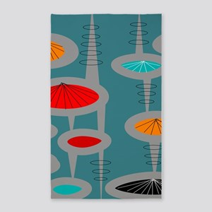 Atomic Era Inspired 3'x5' Area Rug