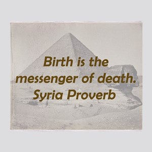 Birth Is the Messenger Throw Blanket