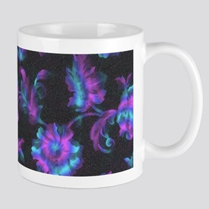 Black, Blue and Purple Abstract Mugs