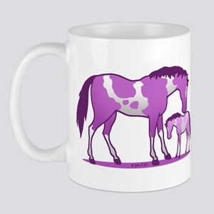 I Love Horse (purple) Mugs