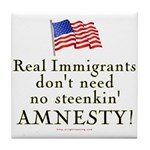 Real Immigrants Tile Coaster