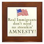 Real Immigrants Framed Tile