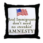 Real Immigrants Throw Pillow