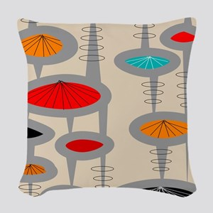 Atomic Era Inspired Woven Throw Pillow