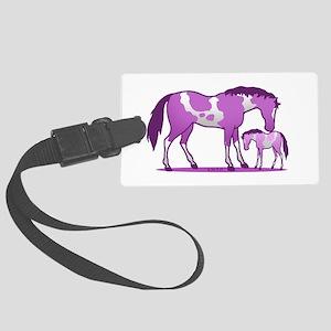 I Love Horse (Purple) Large Luggage Tag