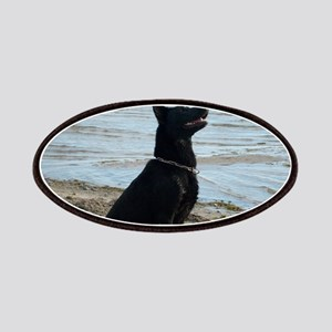 Black GSD at the Beach Patches
