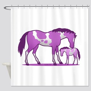 I Love Horse (purple) Shower Curtain