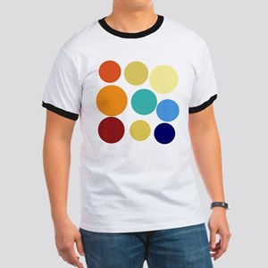 Huge Bright Colored Dots Pattern T-Shirt