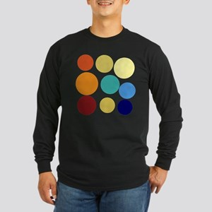Huge Bright Colored Dots Pattern Long Sleeve T-Shi