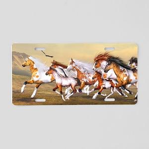 Wild Horses Herd Aluminum License Plate
