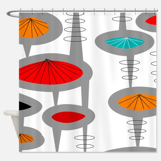 Cool Retro Shower Curtain