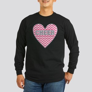 Cheer Heart Long Sleeve Dark T-Shirt