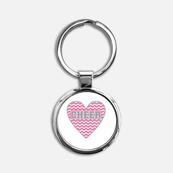 Cheer Heart Round Keychain