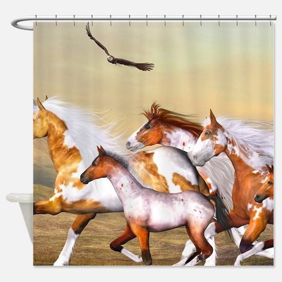 Wild Horses Herd Shower Curtain