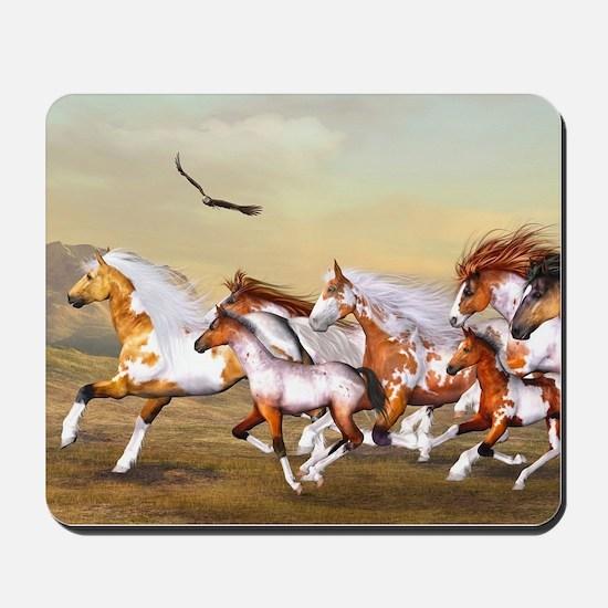 Wild Horses Herd Mousepad