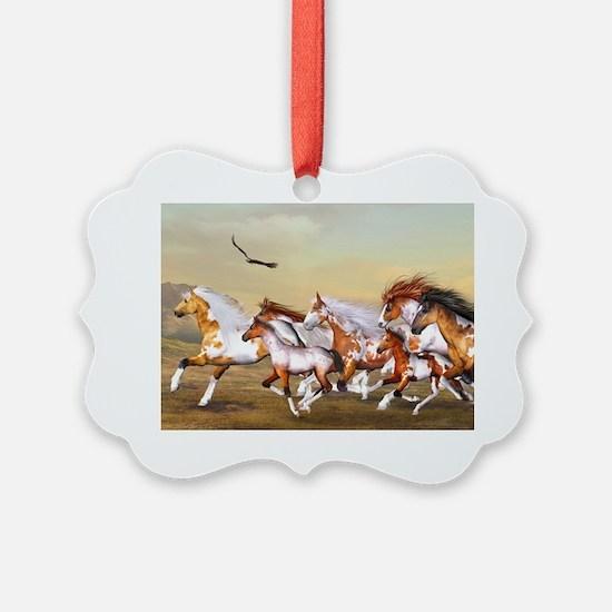 Wild Horses Herd Ornament
