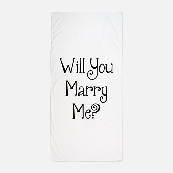 Cute Marriage proposal Beach Towel
