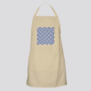 Blue Rooster Pattern Apron