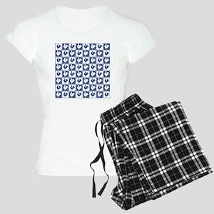 Blue Rooster Pattern Women's Light Pajamas