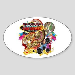 Las Vegas Party V1 Sticker (Oval)