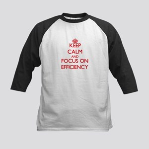 Keep Calm and focus on EFFICIENCY Baseball Jersey