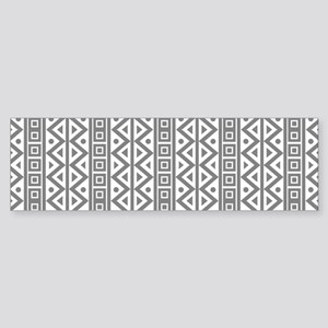 Retro Vintage Style White Grey Geometric Pattern B