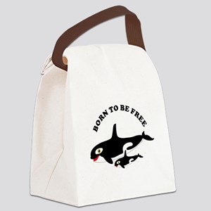 Free the whales Canvas Lunch Bag