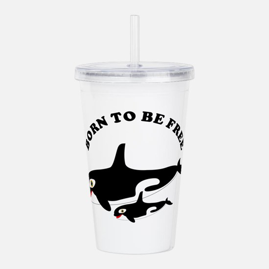 Free the whales Acrylic Double-wall Tumbler