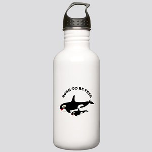 Free the whales Water Bottle